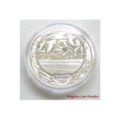 2000 $5 Silver Proof - Sydney 2000 - Harbour of Life - Air